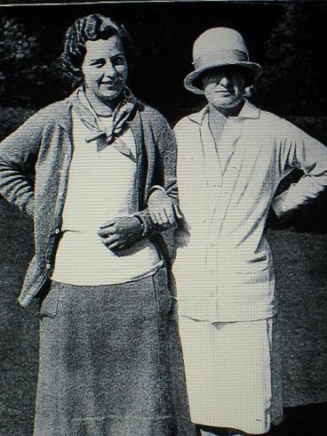 US Women Amateur 1927 Simone en compagnie de Glenna Collett