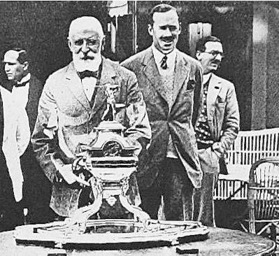 Henry Cachard et le Duc de Mouchy 1926