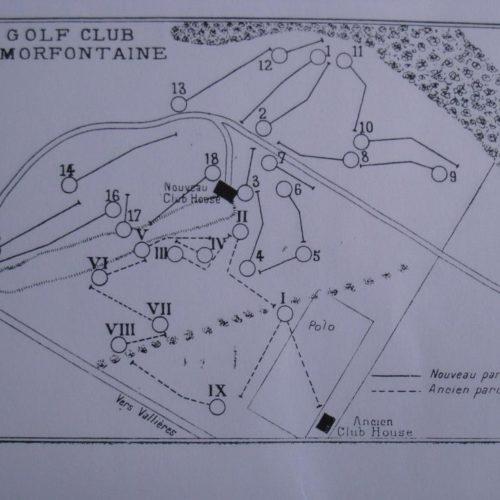 Plan du parcours Morfontaine 1927