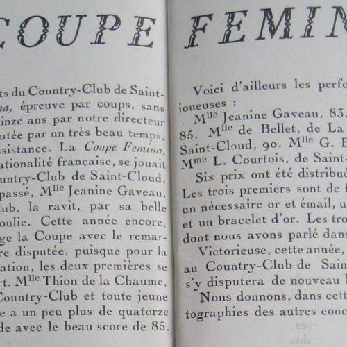 Détail article Femina 1923
