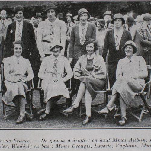 1ère Equipe de France Dames / Vagliano 1931