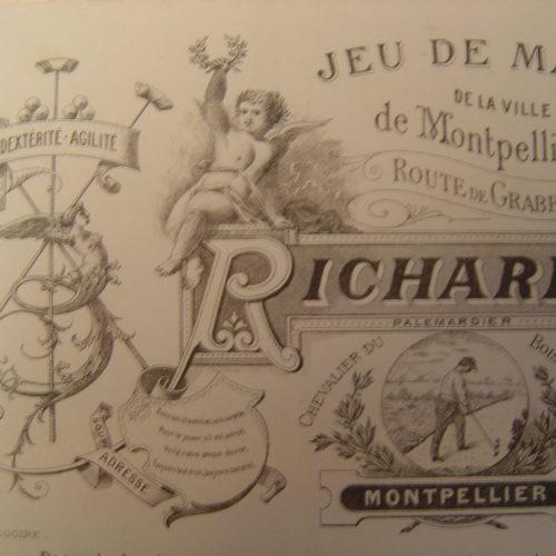 Publicité de M.RICHARD Palemardier