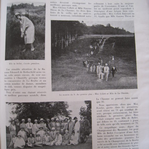 art : Tennis& Golf 16 juillet 1925