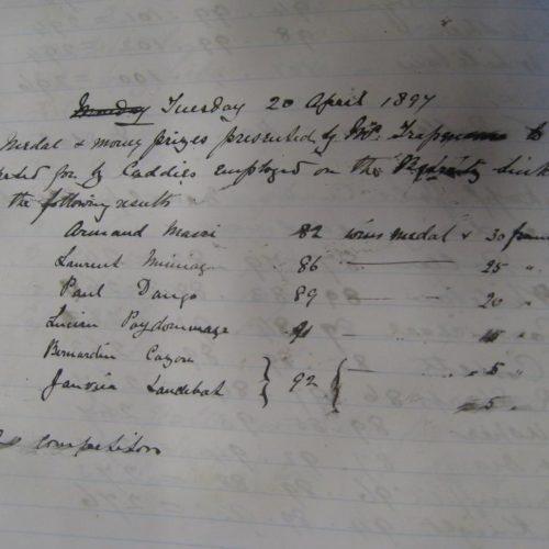 Arnaud Massy 1er Compétition Cadets 1897