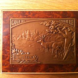 Médaille en bronze et son écrin de G Gardet remportée par le Conte de Feels sur le 9 Trous de Valliere