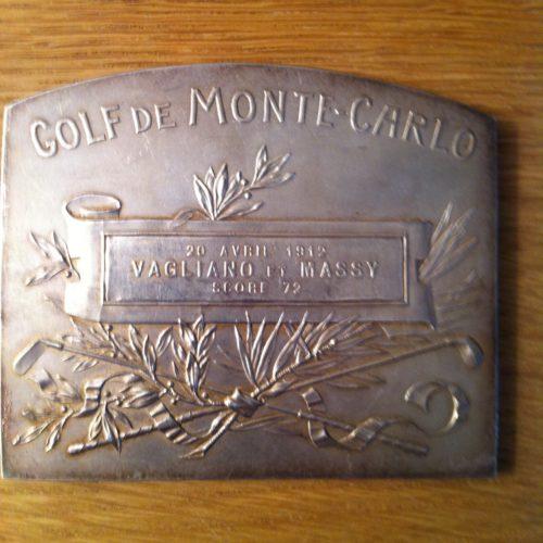 Médaille inaugurale du golf de Monaco Arnaud Massy joue avec Mr Vagliano(A Marino) en 4 balles meilleures balles et realise le score de 72